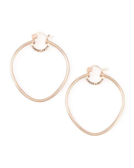 Rose Gold Precious Fruit Hoop Earrings, Large