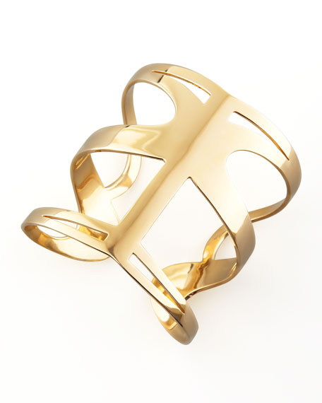 Infinite Love Cuff, Yellow Gold