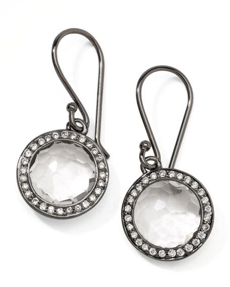 Mini Lollipop Quartz Diamond Earrings