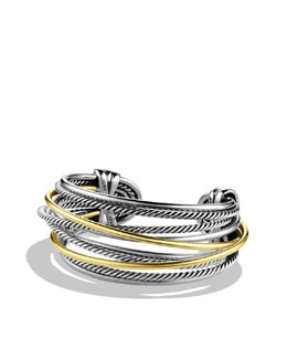 David Yurman Crossover Cuff with Gold