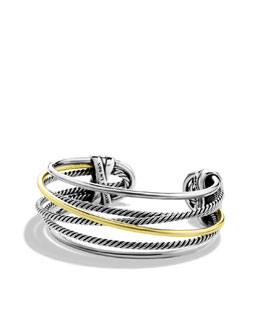 David Yurman Crossover Narrow Cuff with Gold