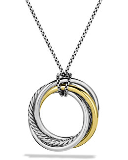 David Yurman Crossover™ Pendant with Gold on Chain