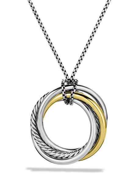 David YurmanCrossover Pendant with Gold on Chain