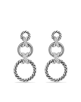David Yurman X Triple-Drop Earrings with Diamonds