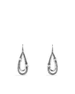 David Yurman X Collection Teardrop Earrings, Diamonds