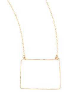 GaugeNYC Gold State Pendant Necklace, Colorado