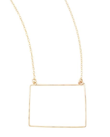 Gold State Pendant Necklace, Colorado