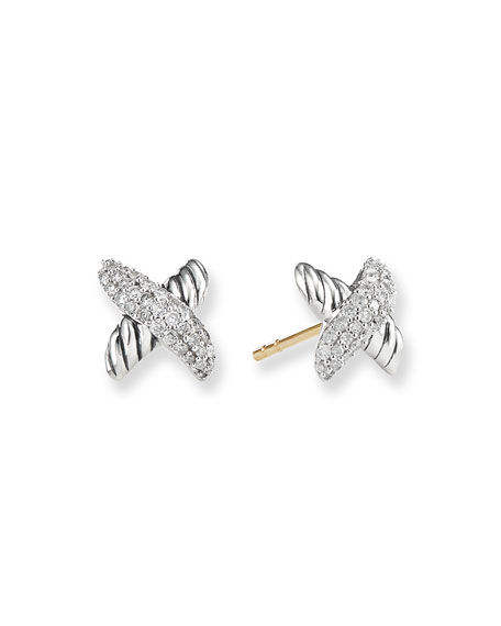 David Yurman X Earrings with Diamonds he3sf