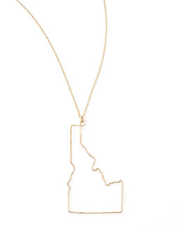 GaugeNYC Gold State Pendant Necklace, Idaho