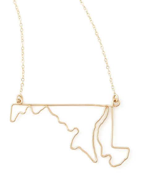 Gold State Pendant Necklace, Maryland