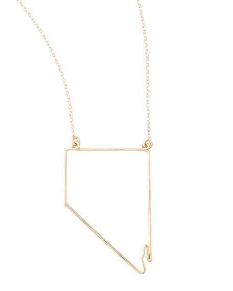 Gold State Pendant Necklace, Nevada