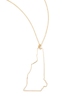 GaugeNYC Gold State Pendant Necklace, New Hampshire