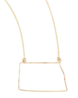 GaugeNYC Gold State Pendant Necklace, North Dakota