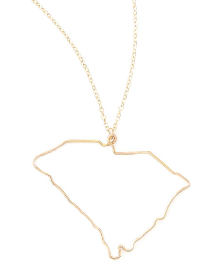 Gold State Pendant Necklace, South Carolina