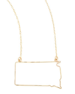 GaugeNYC Gold State Pendant Necklace, South Dakota