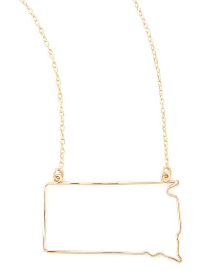 Gold State Pendant Necklace, South Dakota