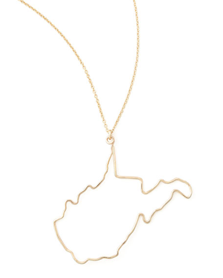 Gold State Pendant Necklace, West Virginia