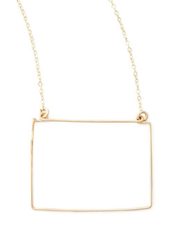 GaugeNYC Gold State Pendant Necklace, Wyoming