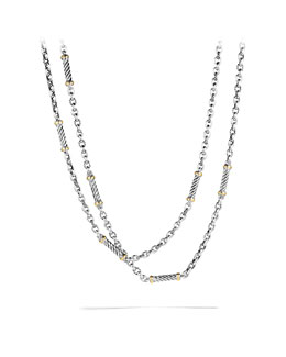 David Yurman Metro Link Necklace with Gold
