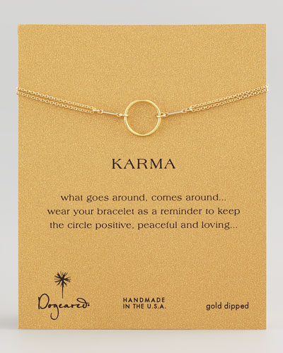Dogeared Original Karma Ring, Golden