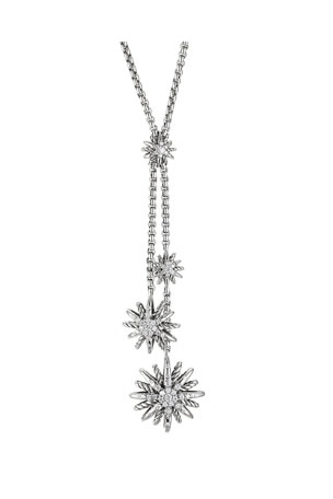 David Yurman Starburst Y Necklace, Diamonds