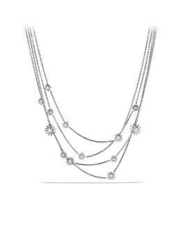 David Yurman Starburst Chain Necklace with Diamonds