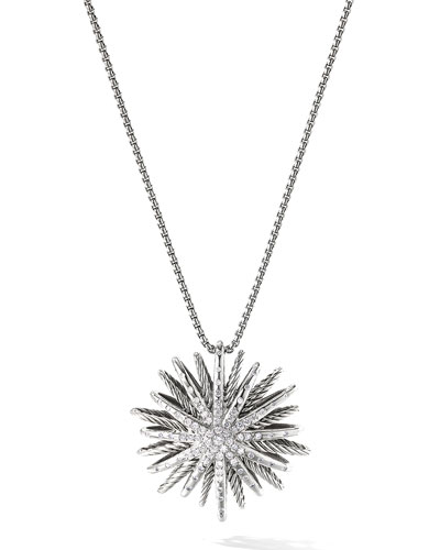 David Yurman Starburst Large Pendant with Diamonds on Chain