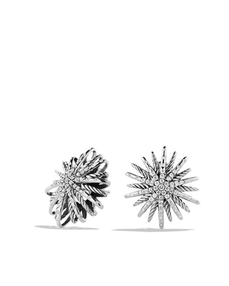 Starburst Medium Earrings with Diamonds