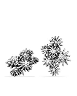 David Yurman Starburst Cluster Earrings with Diamonds
