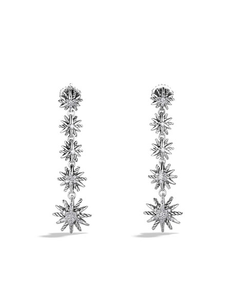 Starburst Drop Earrings with Diamonds