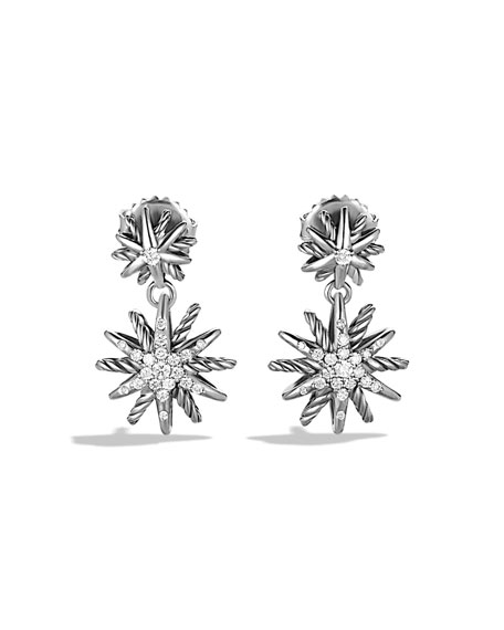 Starburst Double-Drop Earrings with Diamonds