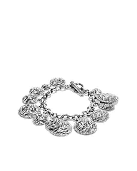 Cable Coil Charm Bracelet