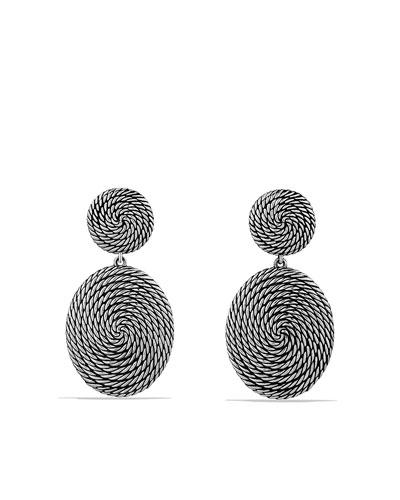 David Yurman Cable Coil Double-Drop Earrings