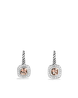 David Yurman Albion Drop Earrings with Morganite and Diamonds