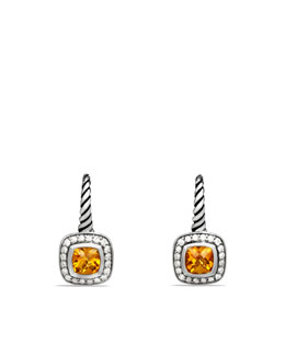 David Yurman Albion Drop Earrings with Citrine and Diamonds