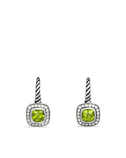 David Yurman Albion Drop Earrings with Peridot and Diamonds