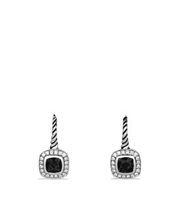 David Yurman Albion Drop Earrings with Black Onyx and Diamonds