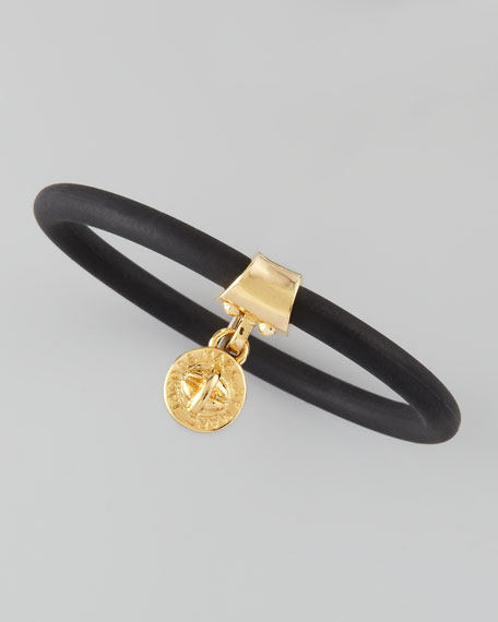 Chunky Rubber Bangle, Black