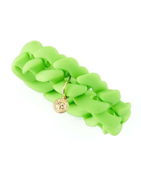 Rubber Turnlock Bracelet, Toucan Green