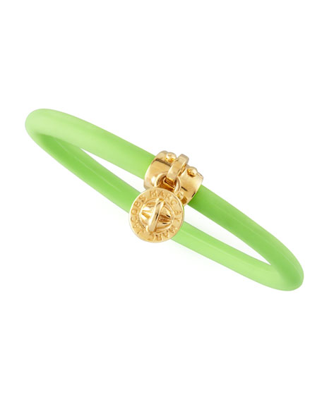 Chunky Rubber Bangle, Toucan Green