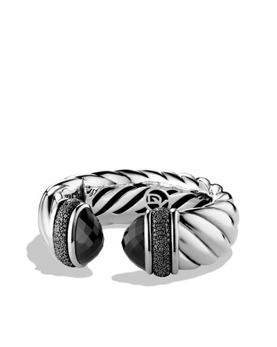 David Yurman Waverly Bracelet with Black Onyx and Black Diamonds