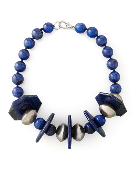 Lapis Station Necklace