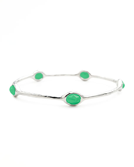 Rock Candy Five-Station Bangle, Chrysoprase