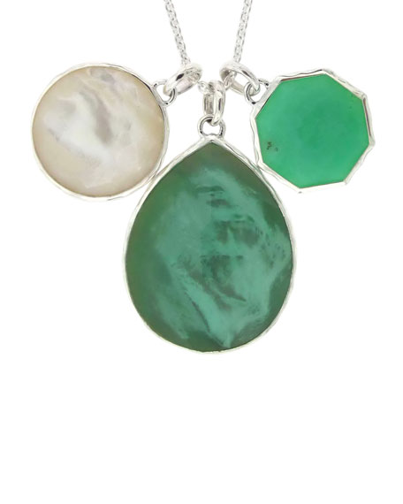 Wonderland Three-Stone Pendant Necklace