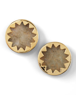 House of Harlow Sunburst Button Earrings (Stylist Pick!)