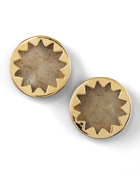 Sunburst Button Earrings (Stylist Pick!)