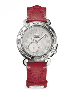 Fendi Selleria Stainless Steel Diamond-Stitch Watch Head