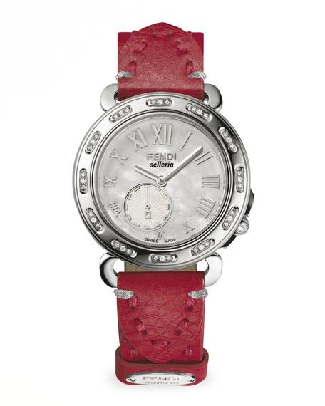 Selleria Stainless Steel Diamond-Stitch Watch Head