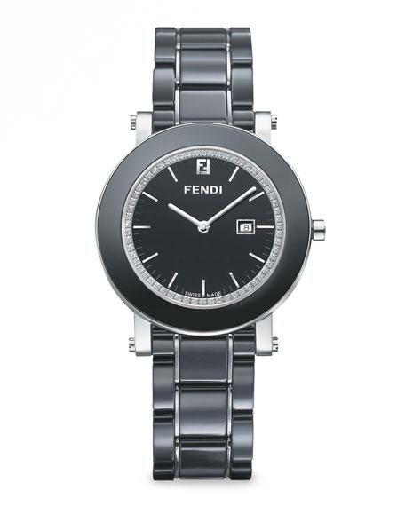 Stainless Steel Ceramic Diamond Watch