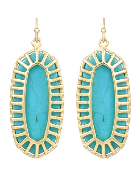 Dayla Small Drop Earrings, Turquoise
